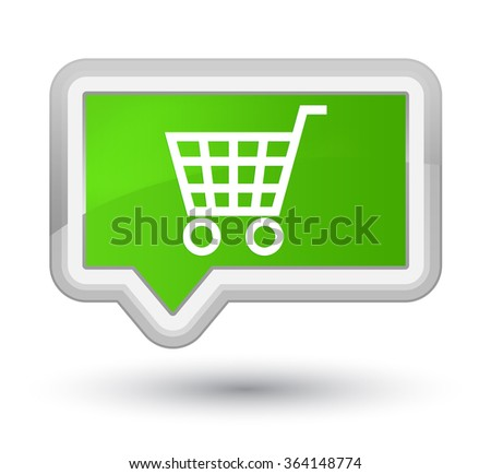 Ecommerce icon soft green banner button