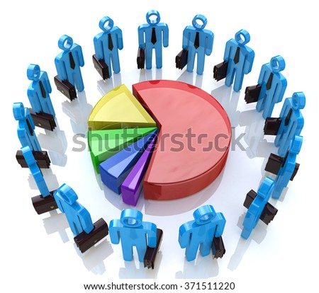 Economic business meeting for the design of information related to business and economy - stock photo