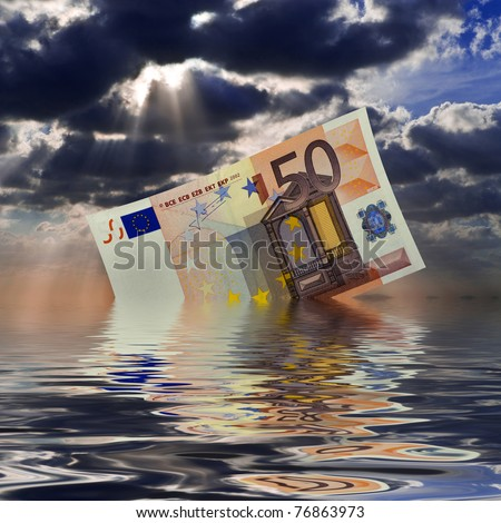 economic crisis - stock photo