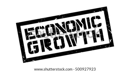 Economic Growth rubber stamp on white. Print, impress, overprint.