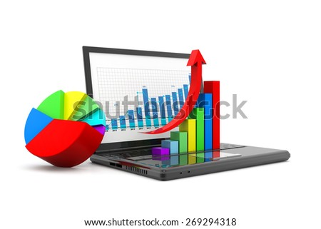 Economical business chart and graph - stock photo
