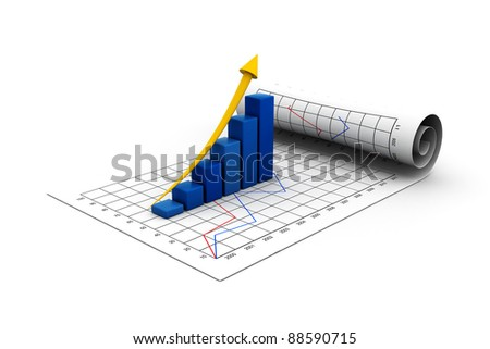 economical graph New concept - stock photo