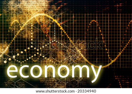 Economy Abstract Technology Concept Wallpaper Background With Graph