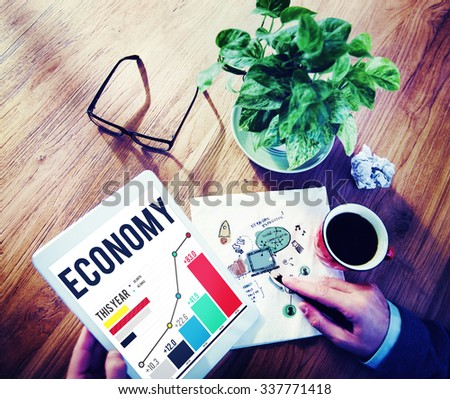 Economy Banking Finance Investment Money profit Concept - stock photo