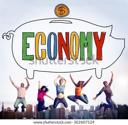 Economy Financial Banking Saving Money Concept - stock photo
