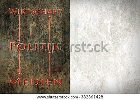Economy - Politics - Media - stock photo