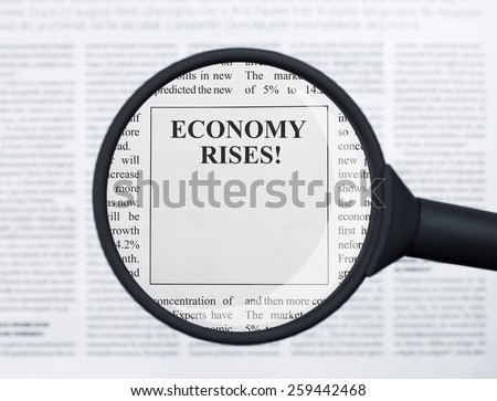 Economy rises - stock photo