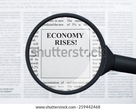 Economy rises - stock photo