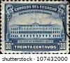 ECUADOR - CIRCA 1944: A stamp printed in  Ecuador shows Government Palace, Quito , circa 1944 - stock photo