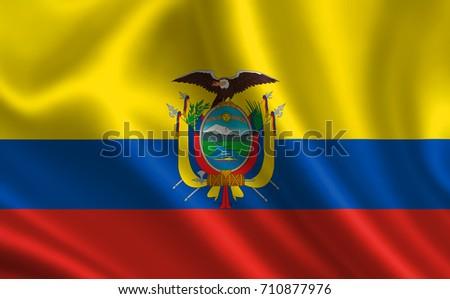 Ecuador Flag Series Flags World The Stock Illustration - Ecuador flags