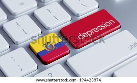 Ecuador High Resolution Keyboard Concept - stock photo
