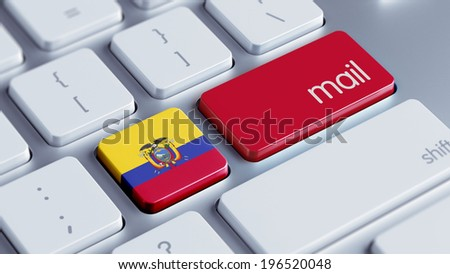 Ecuador High Resolution Keyboard Concept - stock photo