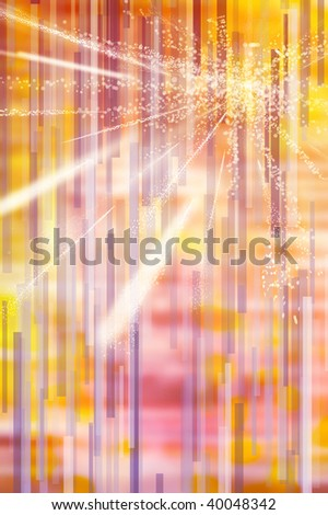 ed yellow gradient wallpaper illustration with geometric shapes and lines