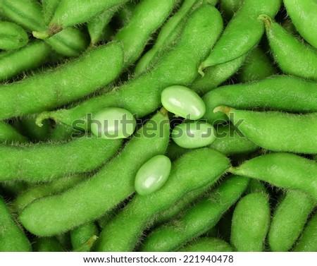 Edamame soy beans - stock photo