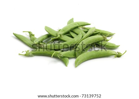 Edamame soy beans shelled and with pods isolated in white background - stock photo