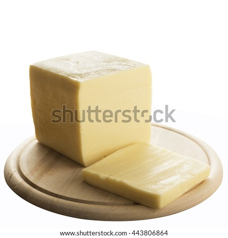 Edamer cow cheese isolated on a white background