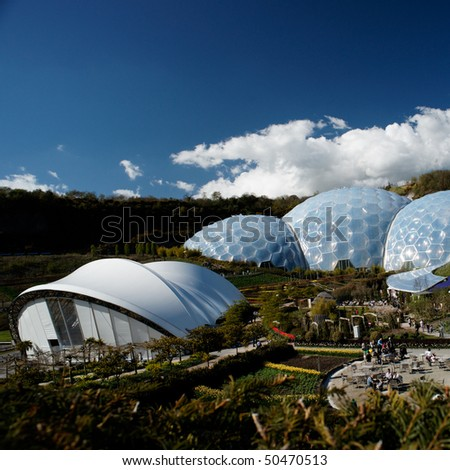 Eden Project in St. Austel, Cornwall, England.