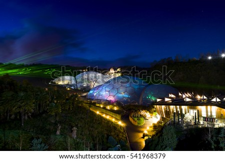 Eden Project Light And Sound Event Par Cornwall UK Photographs Taken Through