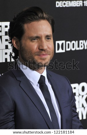 "Edgar Ramirez at the premiere of his movie ""Zero Dark Thirty"" at the Dolby Theatre, Hollywood. December 10, 2012  Los Angeles, CA Picture: Paul Smith"