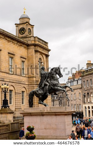 EDINBURG, SCOTLAND - JULY 17, 2016: Balmoral Hotel in Edinburgh, Scotland. Old Town and New Town are a UNESCO World Heritage Site
