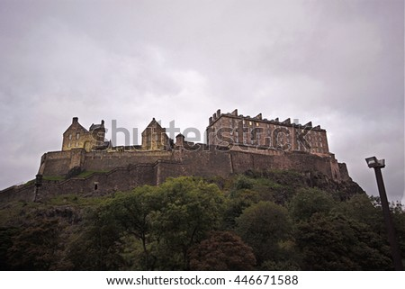 Edinburgh Castle. - stock photo