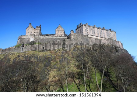 Edinburgh castle in Scotland - stock photo