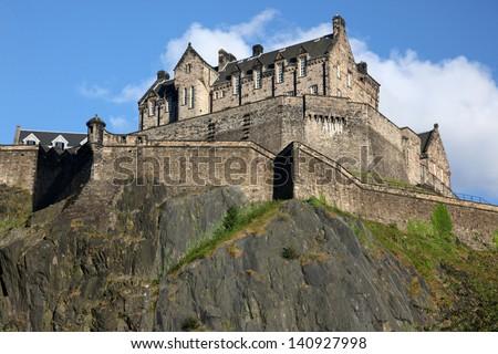 Edinburgh Castle , Scotland, UK - stock photo