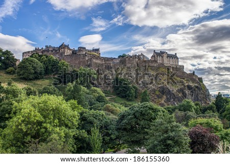 Edinburgh Castle, Scotland, UK - stock photo