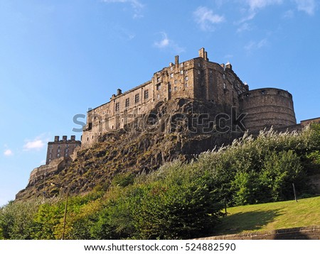 Edinburgh castle viewed from the south