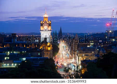 Edinburgh city, Scoltland, UK