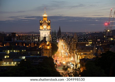 Edinburgh city, Scotland, uk