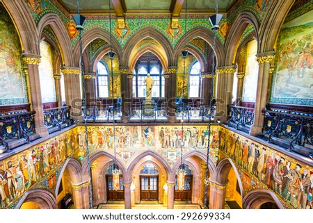 EDINBURGH, GREAT BRITAIN - JUNE 4: Museum of art pictured on June 4th, 2015, in Edinburgh, Scotland. It is the 2nd most populous city in Scotland and the 7th most populous in the United Kingdom.   - stock photo