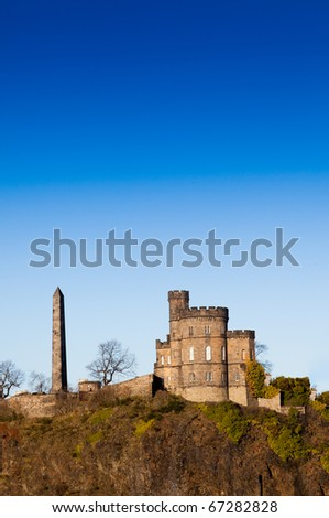 Edinburgh panorama - stock photo