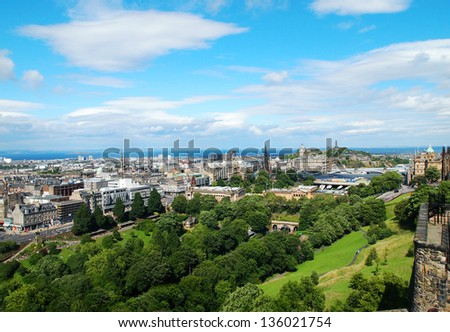 Edinburgh panorama, Scotland - stock photo
