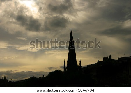 Edinburgh's skyline - stock photo