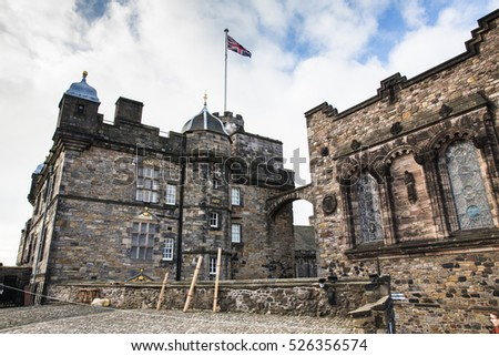 Edinburgh UK - 18 Oct 2015: Visiting Edinburgh Castle