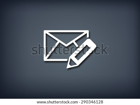 Edit email icon - stock photo