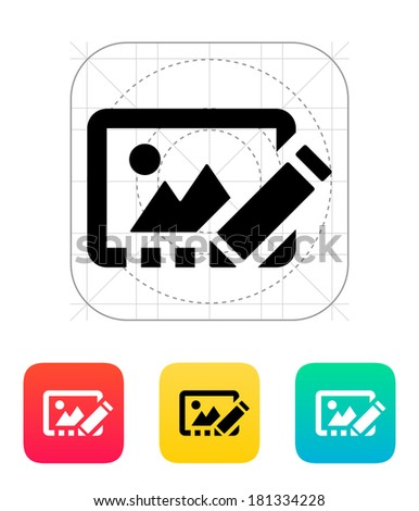 Edit photo icon. - stock photo