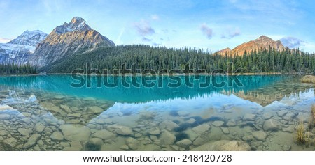 Edith Cavell Lake, Jasper National Park, Alberta, Canada