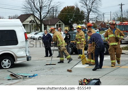 Editorial - Firefighters at work series. - stock photo