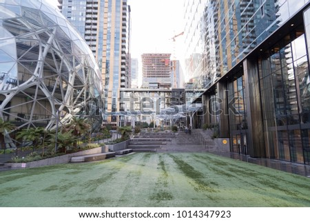 Editorial Seattle Washington circa January 2018 The Amazon companies world headquarters c&us with Spheres terrariums : canopy world seattle - memphite.com
