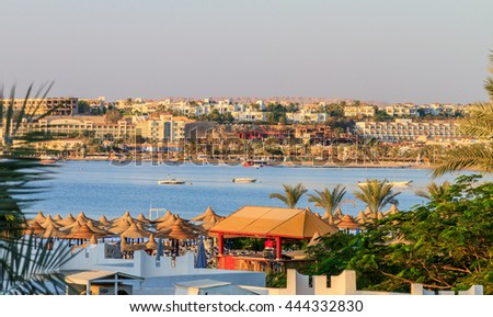 Editorial, Sharm El Sheikh, Naama bay, views of the city from the hotel. 20 September, 2011.