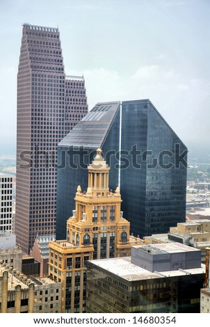 Editorial Use Only: Downtown Houston, Texas, USA (Release Information: Editorial Use Only. Use of this image in advertising or for promotional purposes is prohibited.) - stock photo