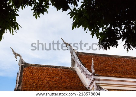 Editorial Use Only - LOEI,THAILAND - JUNE 28 : ancient pagodas Wat Pha Tas Sri Song Ruk temple on JUNE 28 ,2014 in Dansai District ,Loei Province , Northeast of Thailand - stock photo