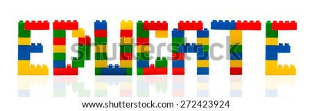 Educate word build from toy building blocks. - stock photo