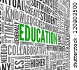 Education and learning concept words in tag cloud - stock photo