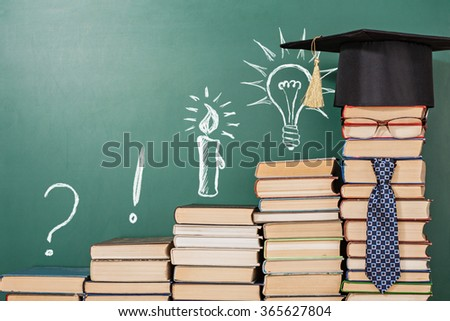 Education and science concept - stock photo