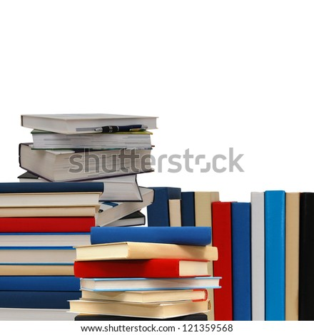 Education books stack - stock photo