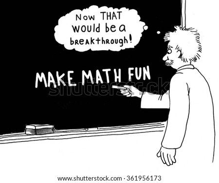 Education cartoon about math.