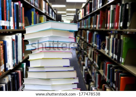 education concept book at library with very blurred background